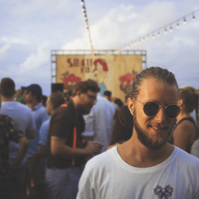 Festivals & Events: Bus Hire and Coach Services: guy enjoying a festival