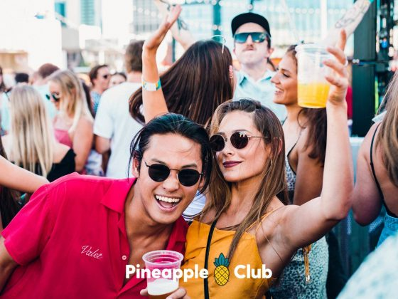 Pineapple Club Couple partying