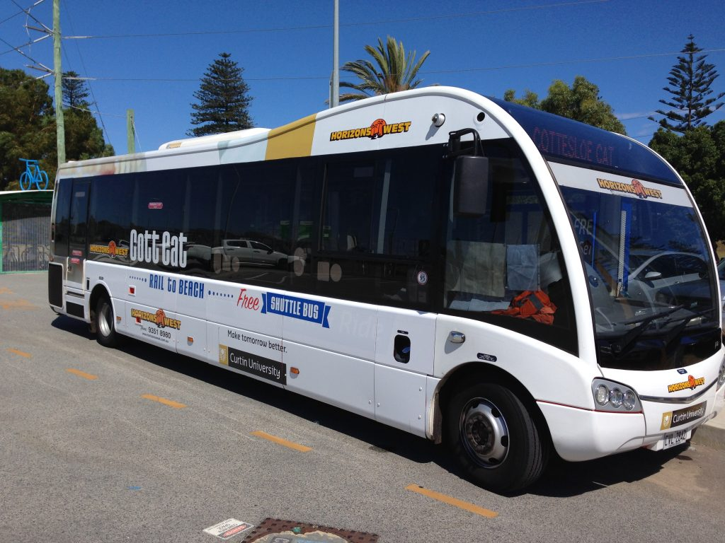 cott bus branding for sculptures by the sea