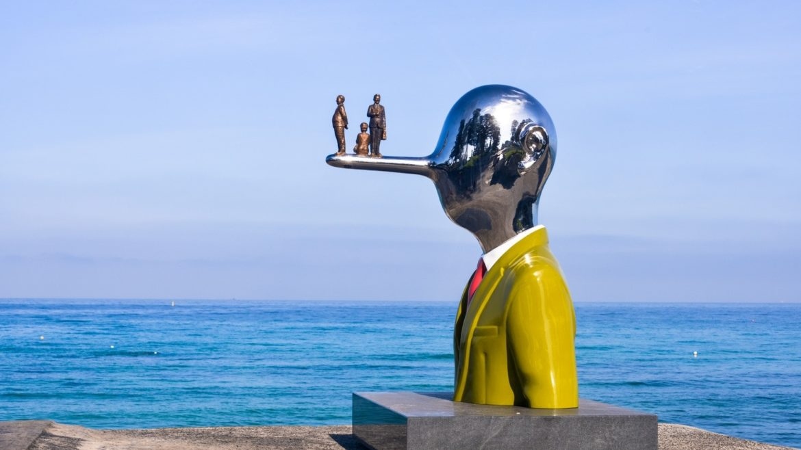 Famous installation at the 2019 Sculptures by the Sea