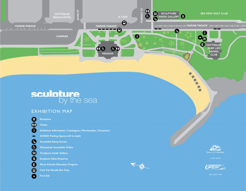 Sculptures by the sea map