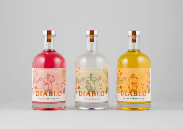Diablo gin range in the swan valley