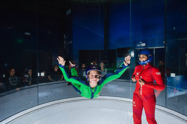 Kid experiencing iFly Perth